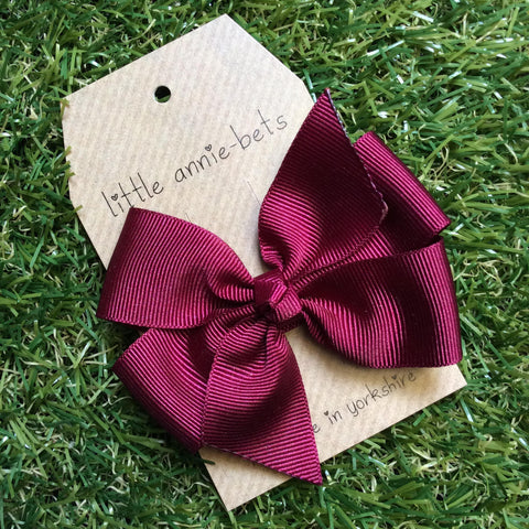 Deep Wine Pinwheel Bow