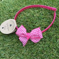 Cerise Gingham Alice Band