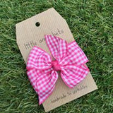 Cerise Gingham Bow