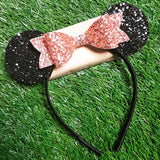 Large Glitter Bow with Ears