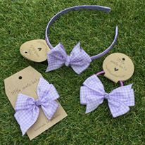 Lilac Gingham Bow
