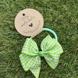 Lime Gingham Bow