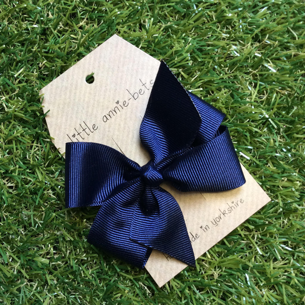 Navy Blue Pinwheel Bow
