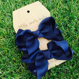 Navy Blue Twisted Bow