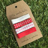 White & Red with Polka