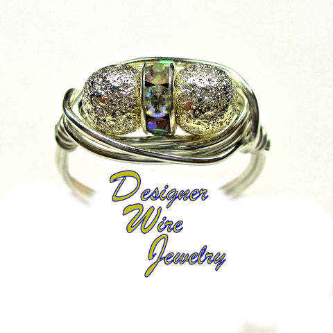 Chic Silver Filigree Plate Deux Artisan Silver Plate Wire Wrap Ring All Sizes