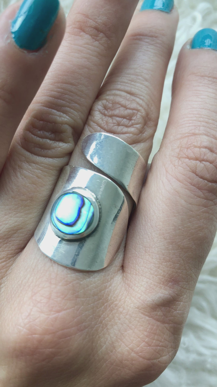Abalone Wrap Ring