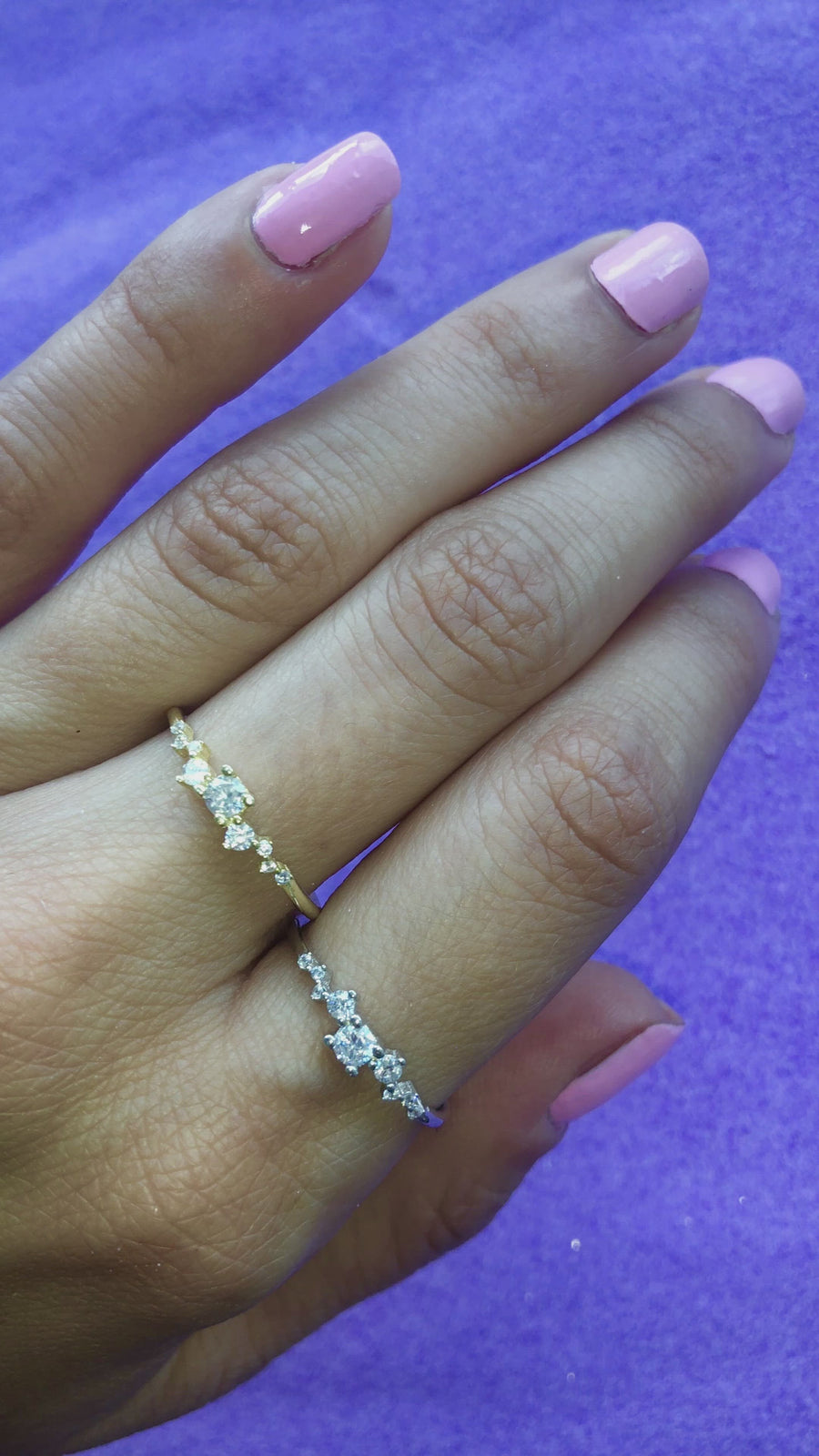 Delicate Crystal Stacker Ring