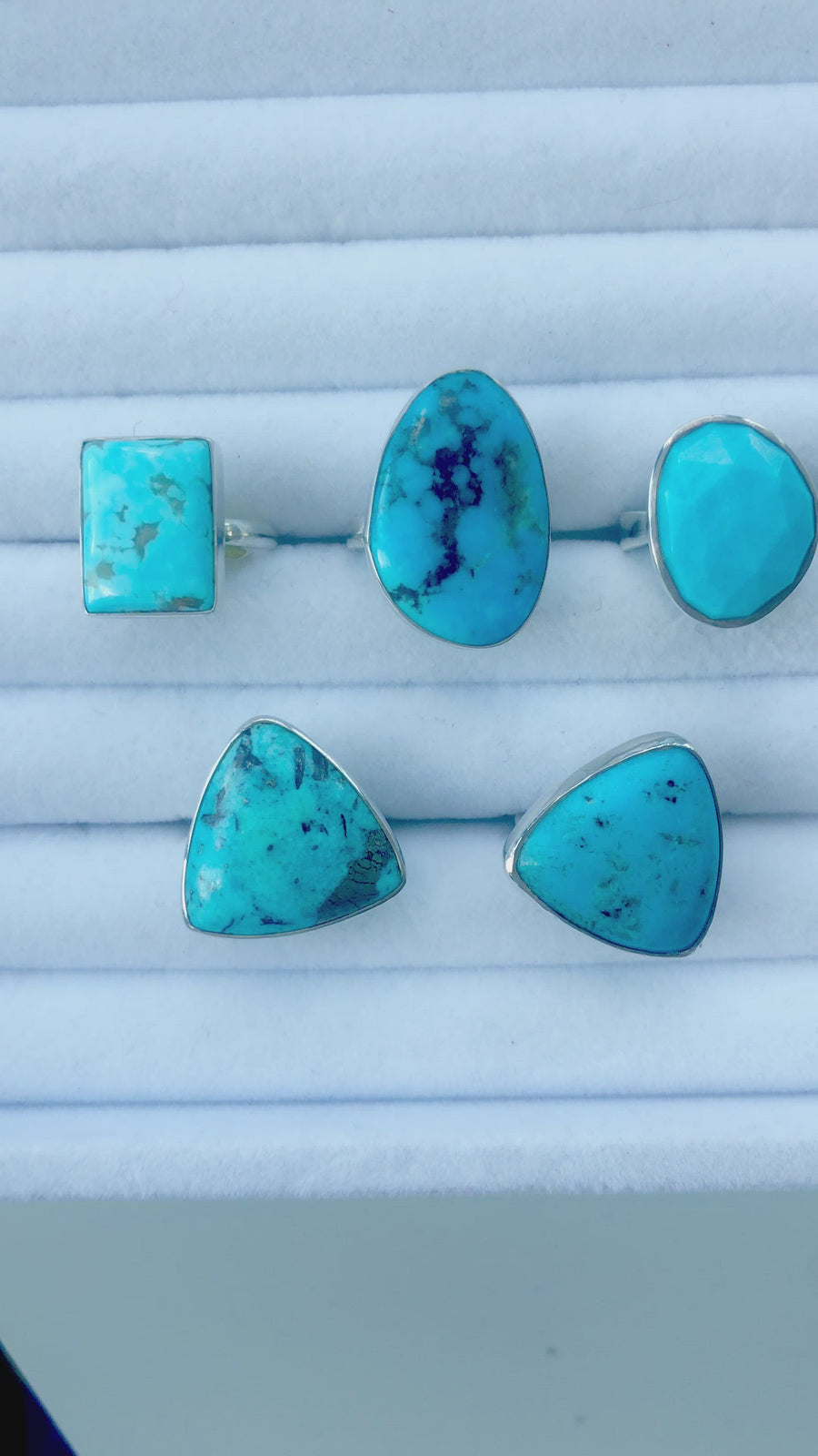 Shape Turquoise Rings