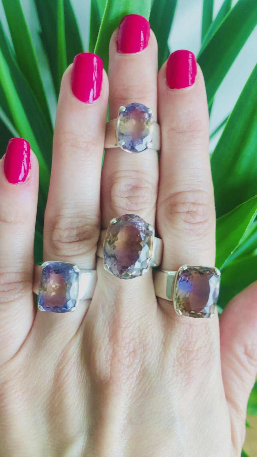 Faceted Ametrine Ring