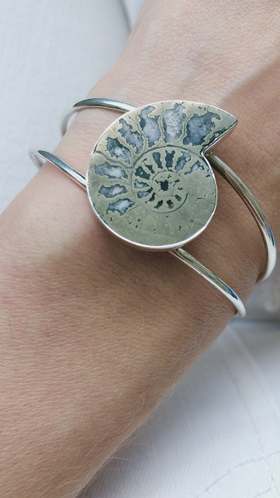 Metal Ammonite Cuff Bracelet- small