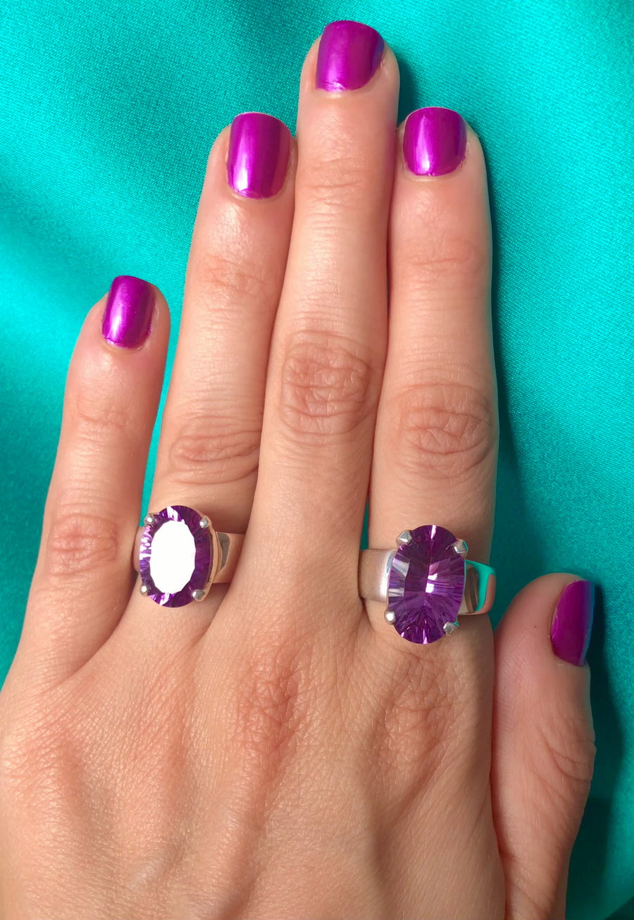 Amethyst Stunner Ring - Small Oval