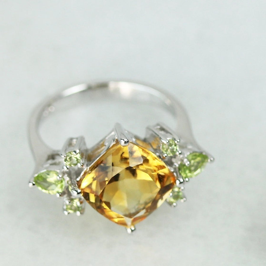 Crown Jewels Rings - Citrine & Peridot