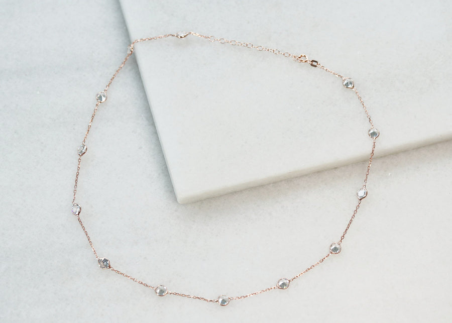 Rose Gold Crystal Layer Necklaces