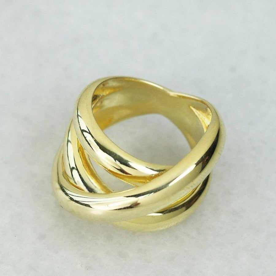 Gold Intersection Ring