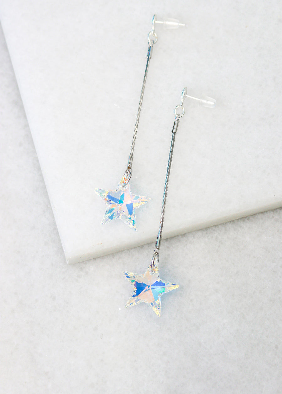 Rock Star Earrings - Small Silver