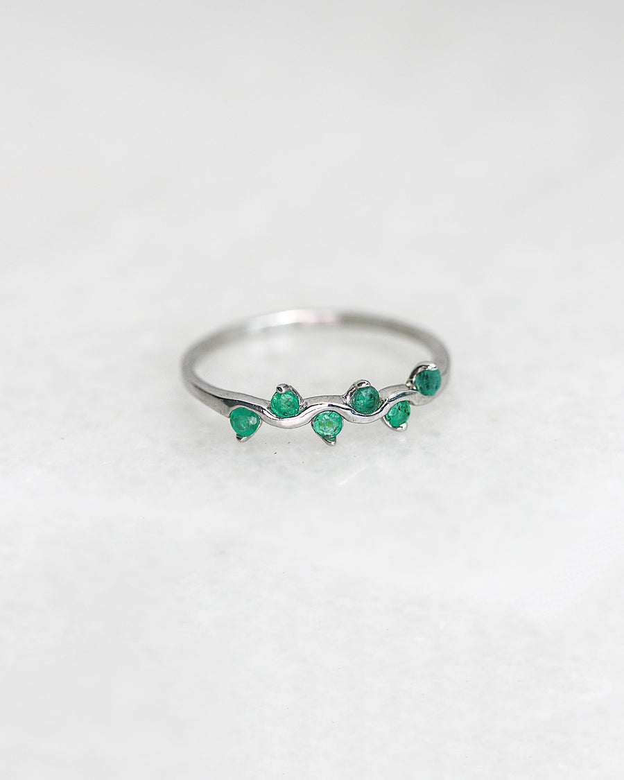 Gemstone Vine Stacker Ring