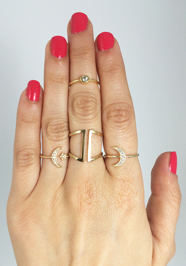 Clean Lines Adjustable Ring