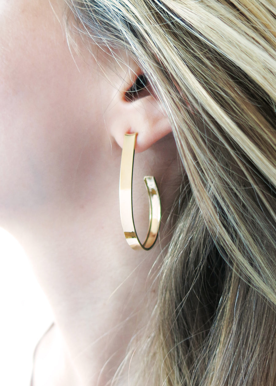 Loop Hoop Earrings - Silver & Gold