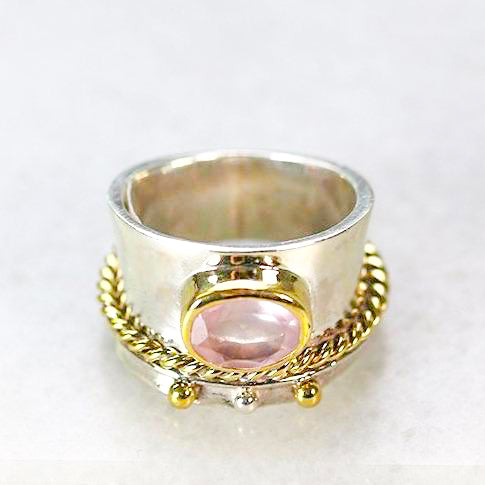 Rose Quartz Spinner Ring