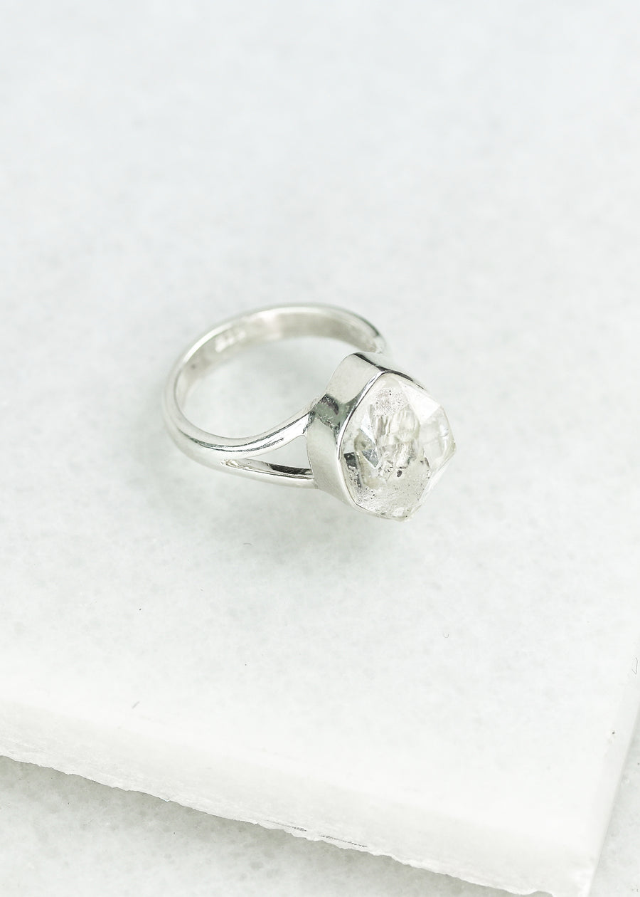 Herkimer Diamond Ring - Split band