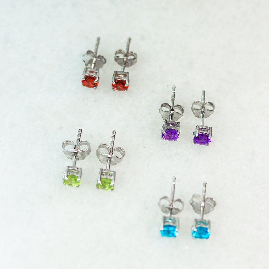 Tiny Gemstone Studs