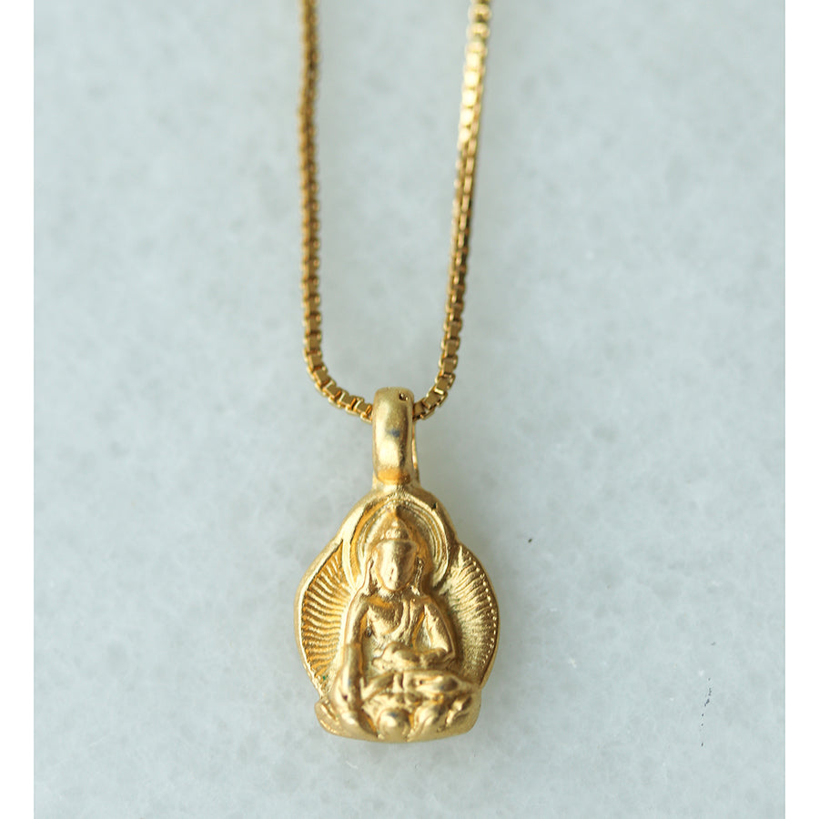 Buddha Disc Necklace