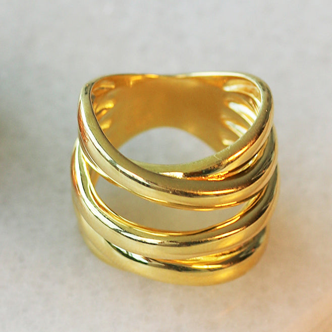 Criss-Cross Coil Ring