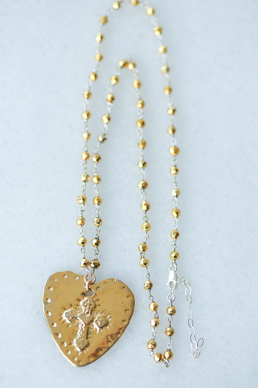 Heart Rosary Necklace