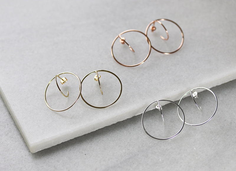Double Hoop Post Earrings