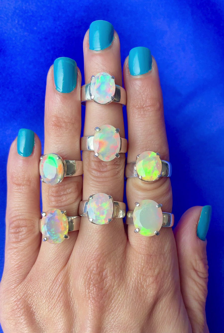 Faceted Opal Stunner Ring