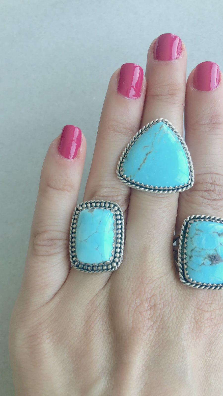 Statement Shape Turquoise Ring
