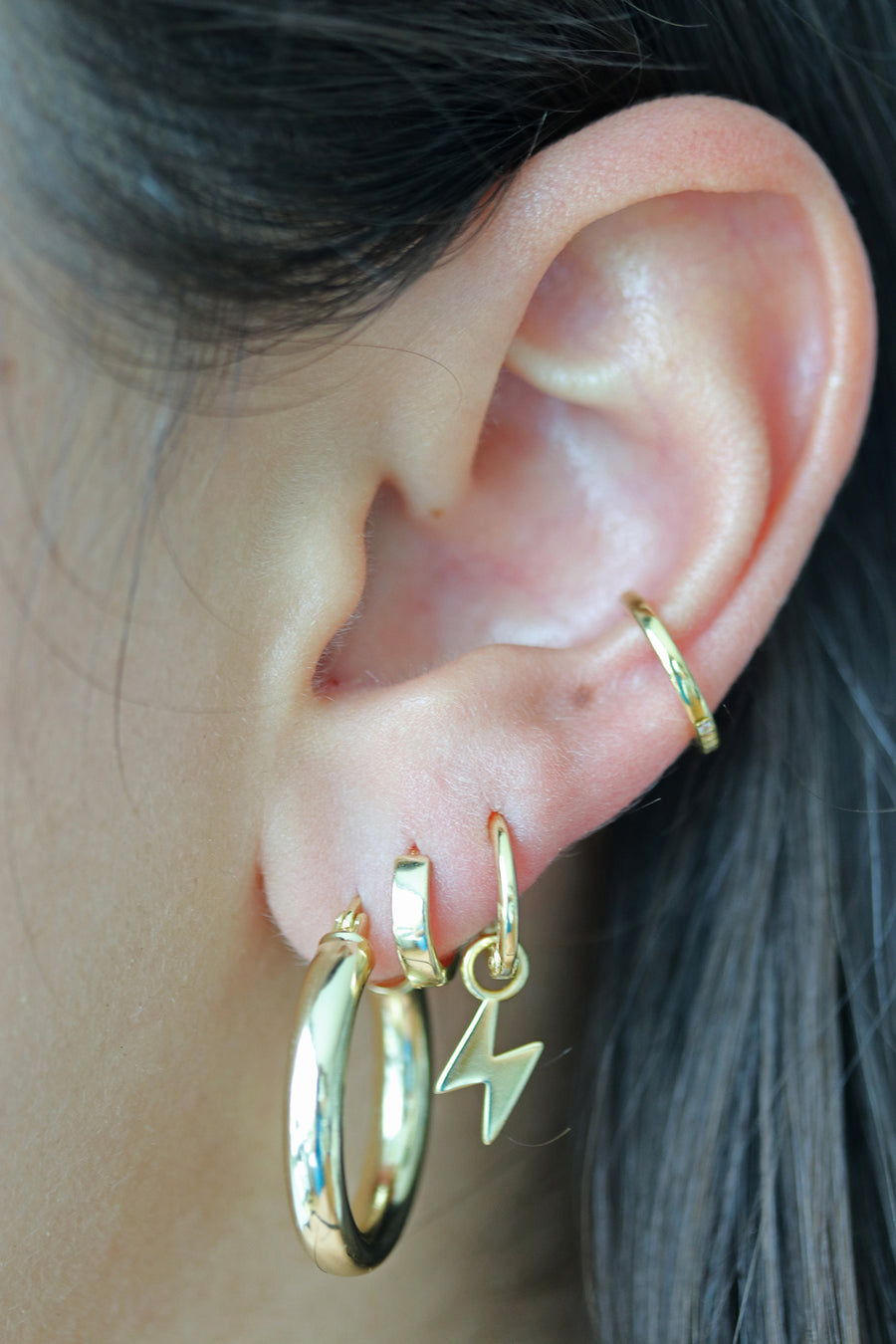 Thin Crystal Ear Cuff