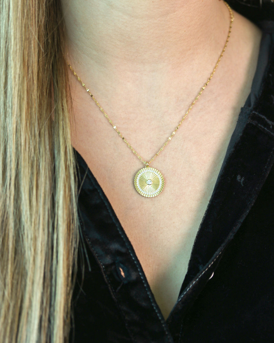Etched Disc Necklace