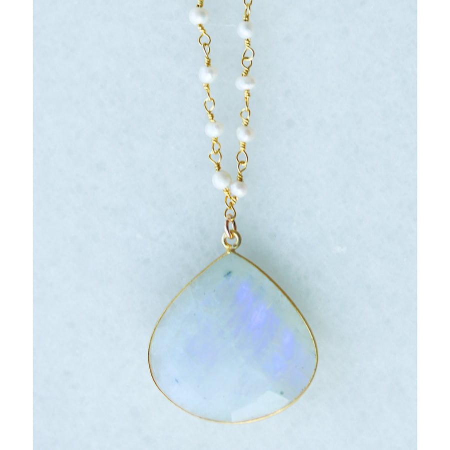 Bohemian Moonstone Necklace