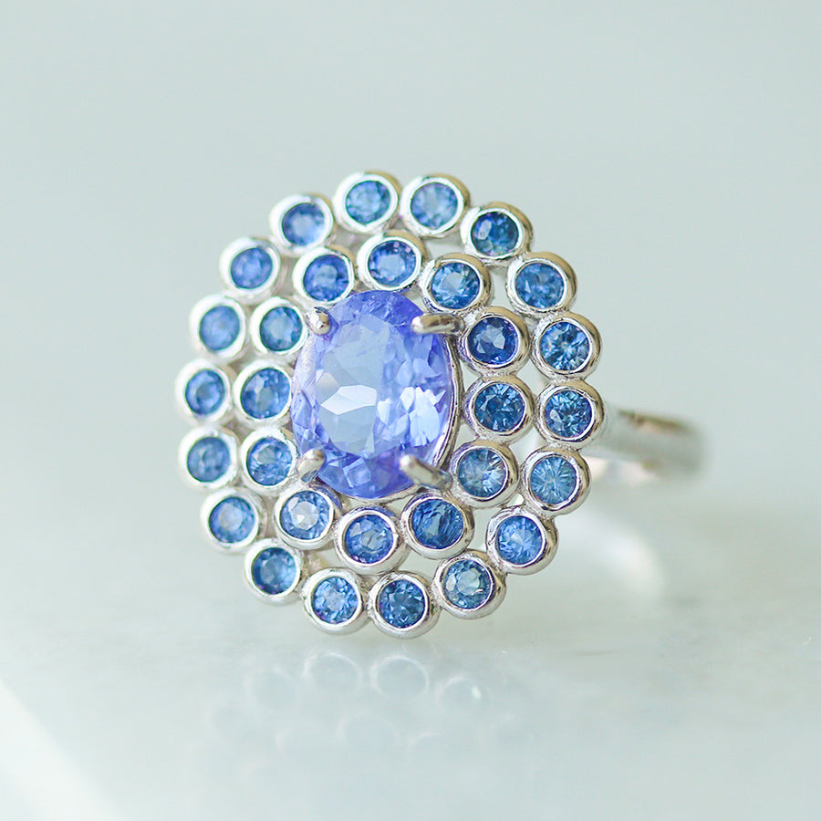 Peacock Princess Ring - Tanzanite