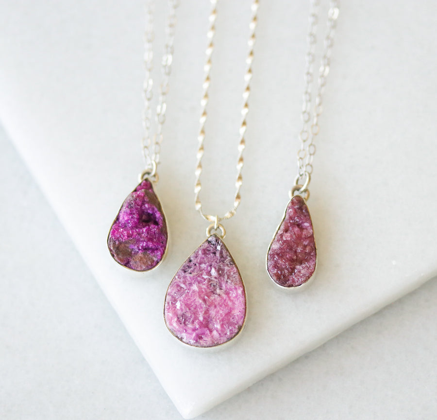 Pink Cobalt Calcite Necklace