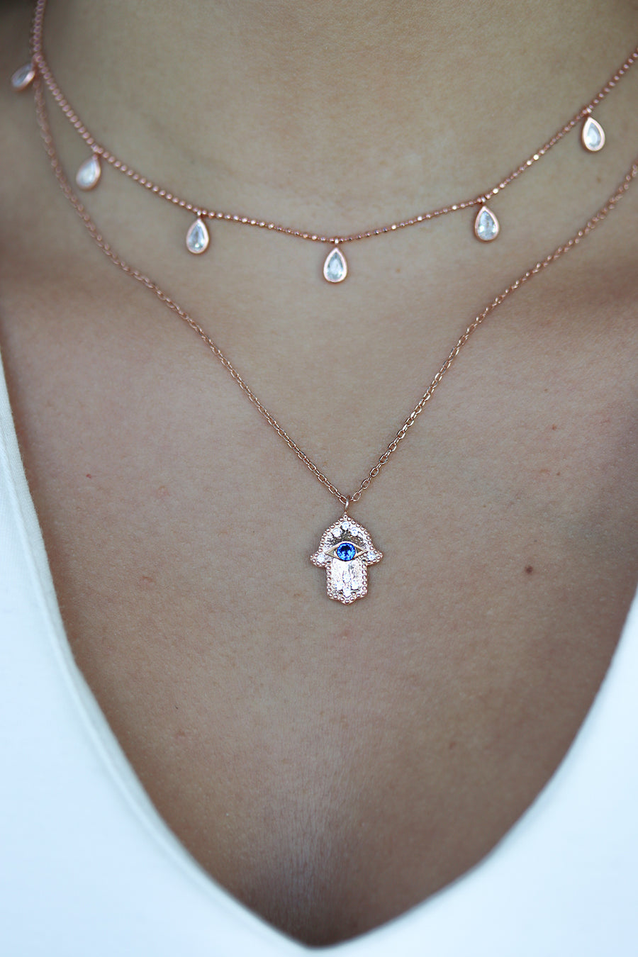 Floating Crystals Necklace - Small
