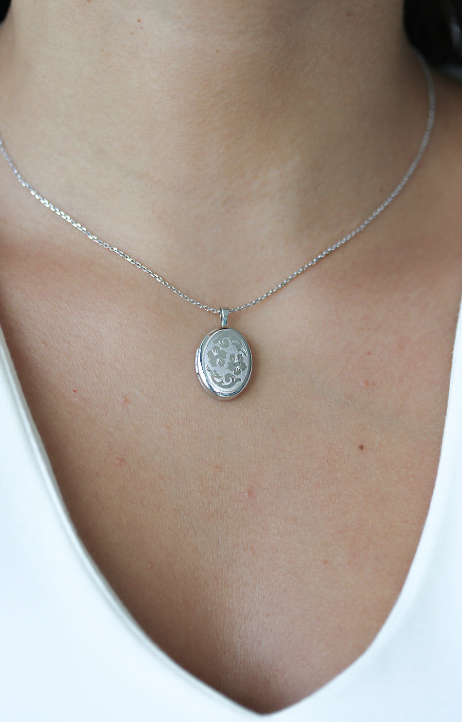 Etched Floral Lockets