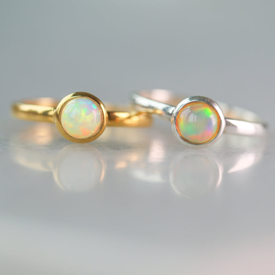 Tiny Ethiopian Opal Ring