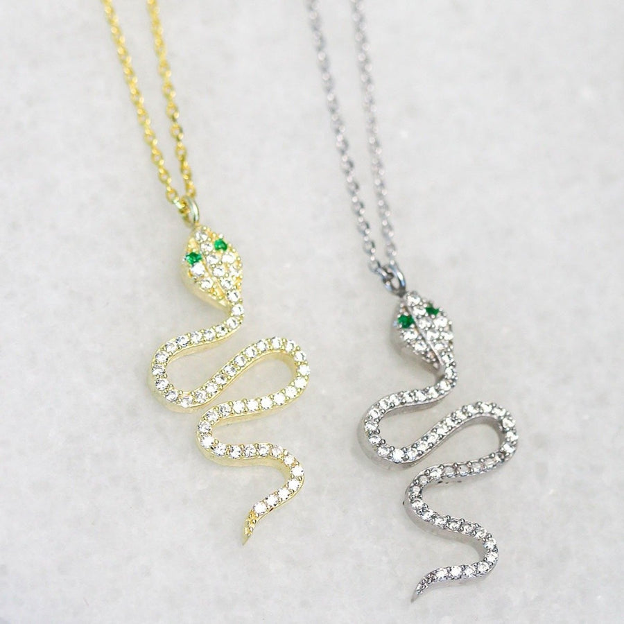 Tiny Snake Necklace