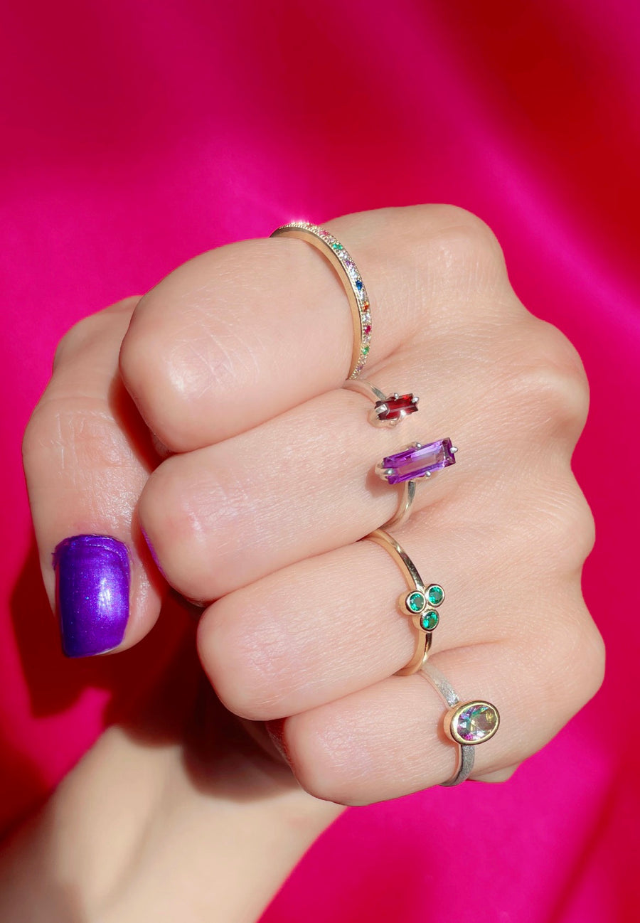 Delicate Floating Gemstone Ring