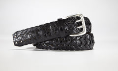 "American Alligator Braided Belt 1 3/8"" - 35mm (Black)"
