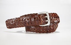 "Crocodile Link Belt 1 3/8"" - 35mm (Brown)"