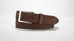 "Freshwater Crocodile Suede Belt 1 3/8"" - 35mm (Black)"