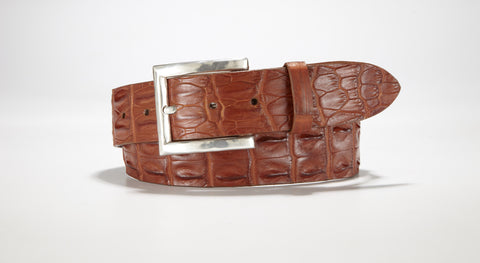 "Hornback Saltwater Crocodile 1 5/8"" - 40mm (Cognac)"