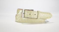 "American Alligator Belt - Glossy 1 3/8"" - 35mm (Grey)"