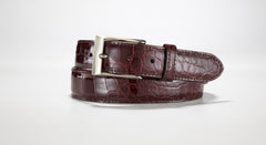 "American Alligator Belt - Glossy 1 3/8"" - 35mm (Cognac)"