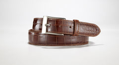 "American Alligator Belt - Glossy 1 3/8"" - 35mm (Brown)"