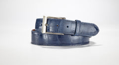 "American Alligator Belt - Glossy 1 3/8"" - 35mm (Electric Blue)"